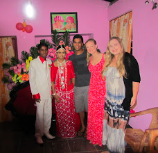 Photo: All of us with the happy couple in Habarana.