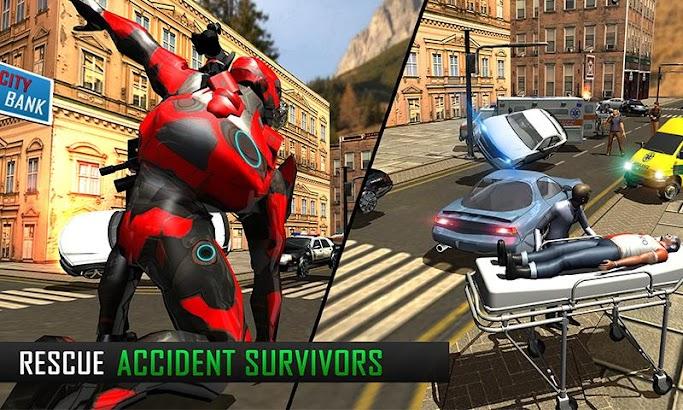 Flying Robot Grand City Rescue screenshot
