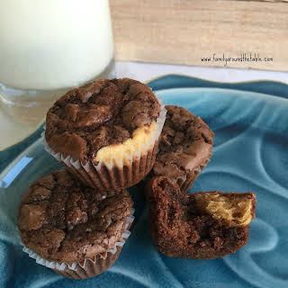 Mini Peanut Butter-Filled Brownie Cupcakes.