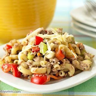 Garden Veggie Tuna Mac {#RecipeRedux} Recipe