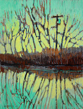 Photo: Delta Series, Green and Gold, pastel by Nancy Roberts, copyright 2014. Private collection.