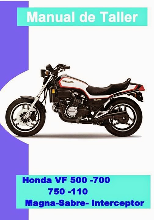 Honda Vf 700 magna manual taller - despiece