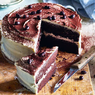 Cappuccino Cake With Mallow Fluff Frosting.