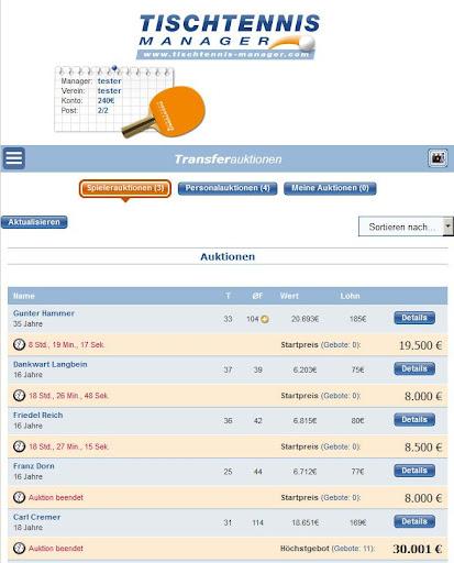Tischtennis Manager 1.2.0 screenshots 13