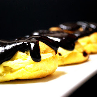 Classic Chocolate Éclairs (adapted from Allrecipes.com)