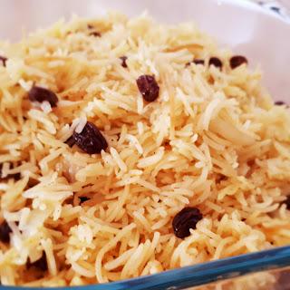 Rice With Noodles & Raisins.