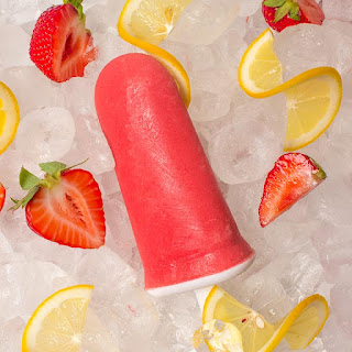 Sugar Free Strawberry Lemonade Popsicles