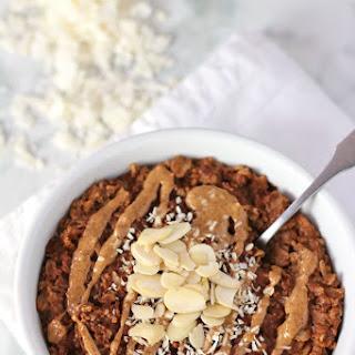 Almond Joy Oatmeal {gluten-free}.