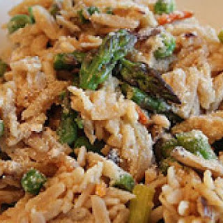 Lemony Orzo with Asparagus & Shiitake Mushrooms