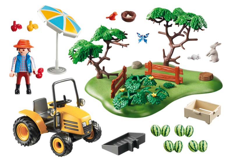 Contenido de Playmobil® 6870 Puesto de Fruta con Tractor