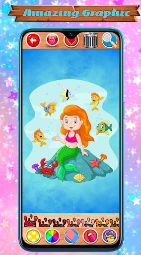 Mermaid Coloring Book Glitter screenshot 2