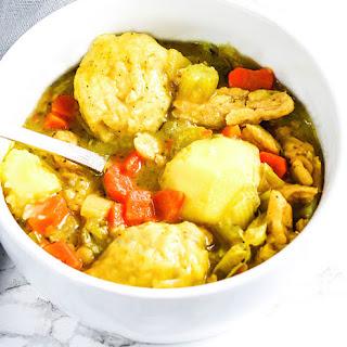 Vegan Chicken and Dumplings.