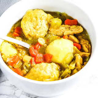 Vegan Chicken and Dumplings.