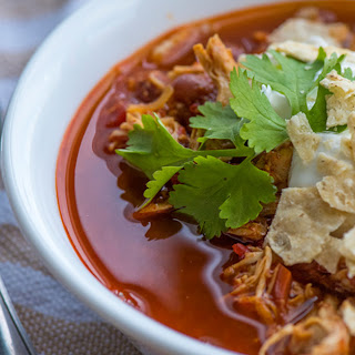 Slow Cooker Red Pepper Chicken Chili.