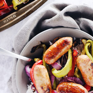 One Pan Italian Sausage with Onions and Peppers (Paleo + GF).