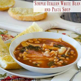 Simple Italian White Bean and Pasta Soup plus more pasta recipes.
