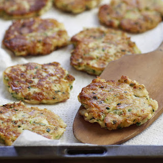Ricotta and Ham Fritters.