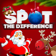 Spot the Difference: Christmas. Xmas Puzzle Game.