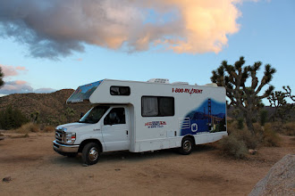 Photo: Black Rock campground at dusk. We'll hit the road home tomorrow. Amazing how even inside the RV, this night turned out to be one of the most uncomfortably cold nights I've ever been through.