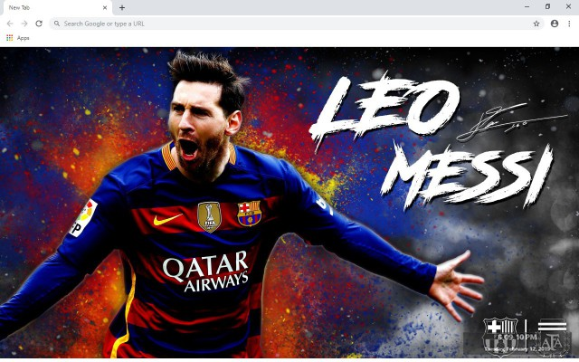 Messi New Tab & Wallpapers Collection