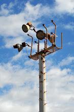 Photo: An interesting light tower...rust never sleeps!