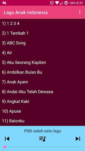 Lagu Anak Indonesia Terpopuler 1.0 screenshots 4