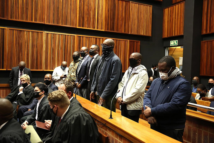 Seven suspects arrested in connection with the multibillion rand VBS court case appeared in the Palm Ridge Regional Court on 8 October 2020.