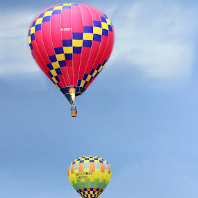 Full of Hot Air by Sam Sampson - Transportation Other ( sky, patterns, transportation, balloons, flame )
