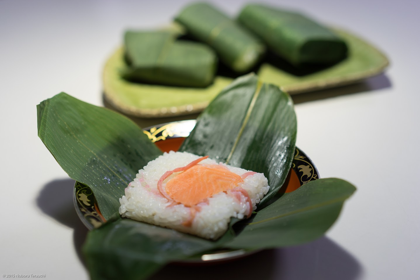 浅野久美子さん手作りの「笹寿司」