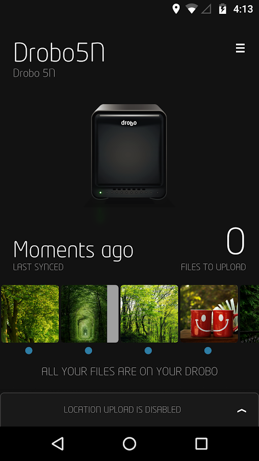 DroboPix- screenshot