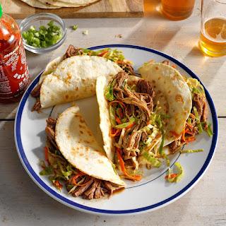 Korean Pulled Pork Tacos.