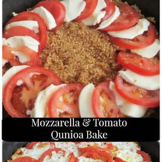 Mozzarella and Tomato Quinoa Bake.