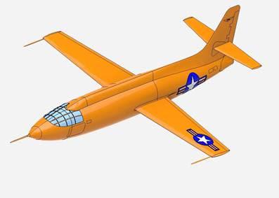 ANSYS | Самолёт Bell X-1