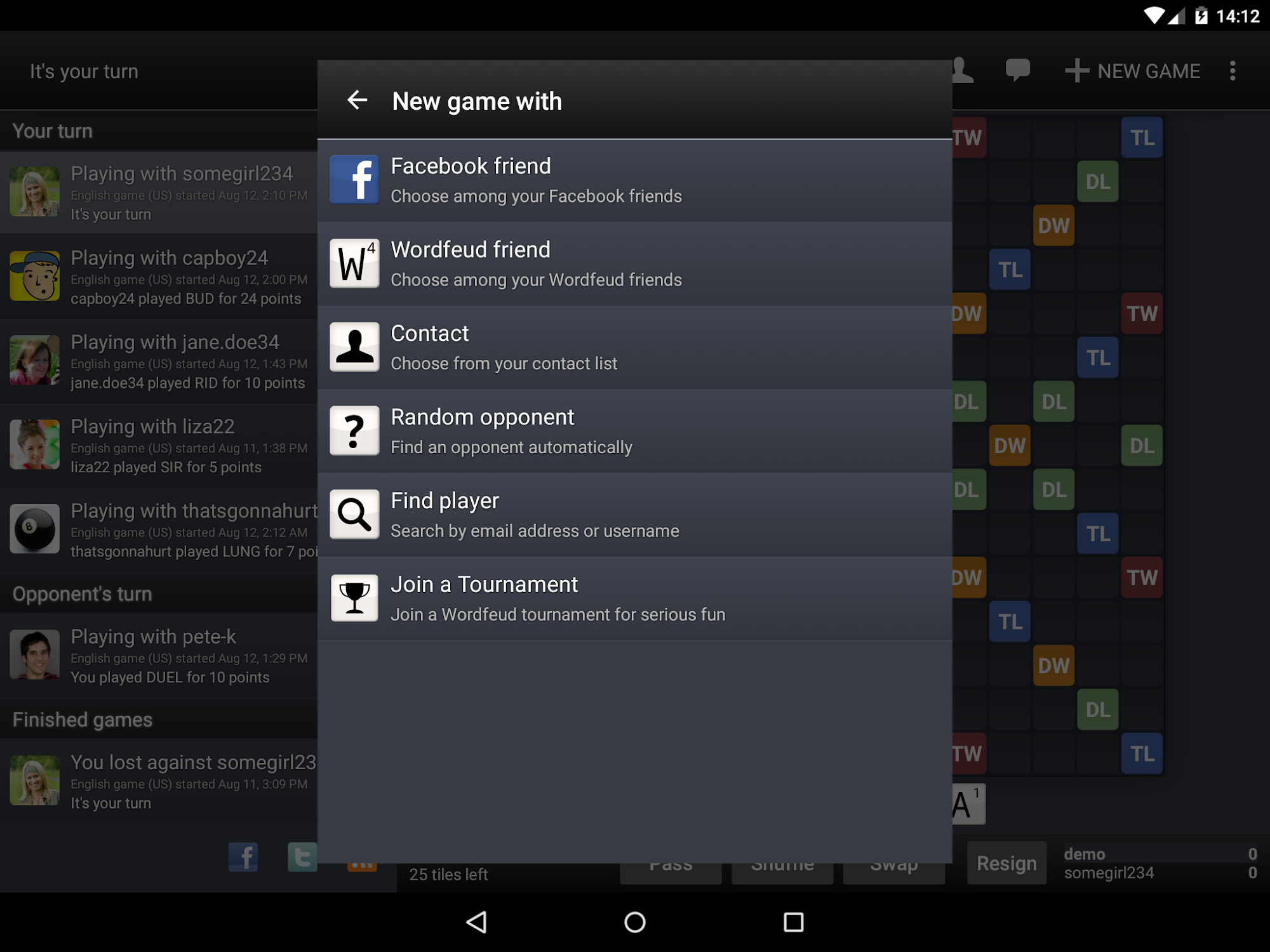 Wordfeud screenshot #11