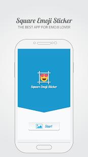0 Square Emoji Sticker - Photo App screenshot