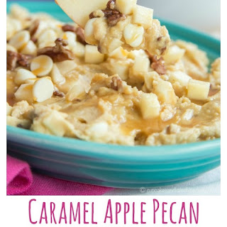 Caramel Apple Pecan Flourless Cookie Dough Dip