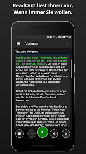 ReadOut (TTS, Vorlesen, Text in Sprache) Screenshot
