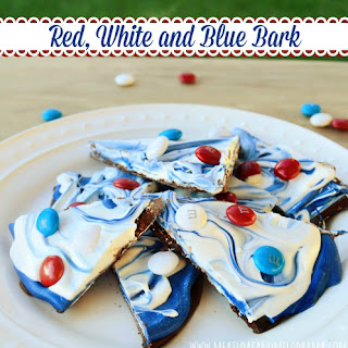 Red, White and Blue Bark