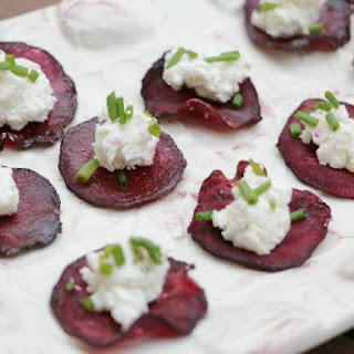 Beet and Goat Cheese Bites.