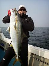 Photo: 巧みなファイトでキャッチのヒラス7.5kgでしたー!