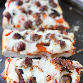 Easy French Bread Pizza.