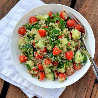 Quinoa Tabbouleh Salad with Grape Tomatoes & Cucumber