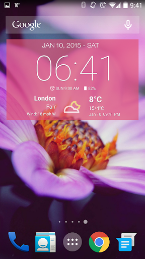 Weather & Clock Widget Android screenshot 2