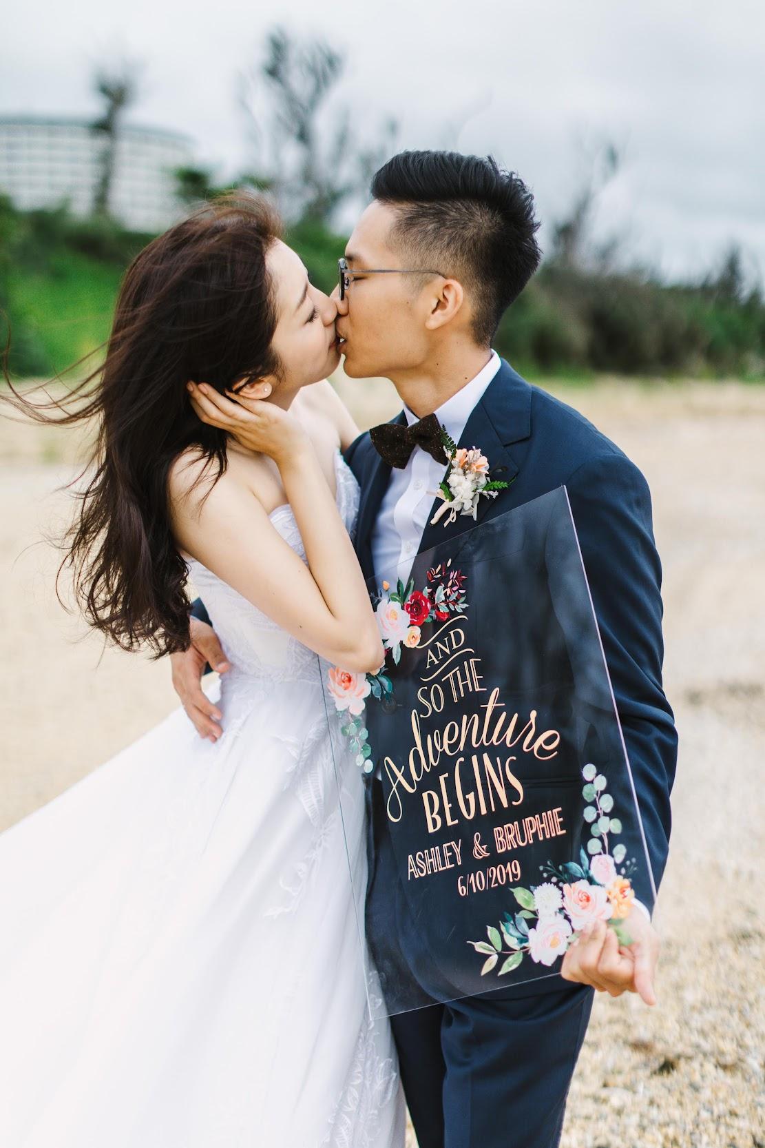 在沖繩 的 萬豪酒店 舉行陽光正好的美式 婚禮 ,是每位新娘夢寐以求的海外婚禮樣式 - amazing Grace婚攝