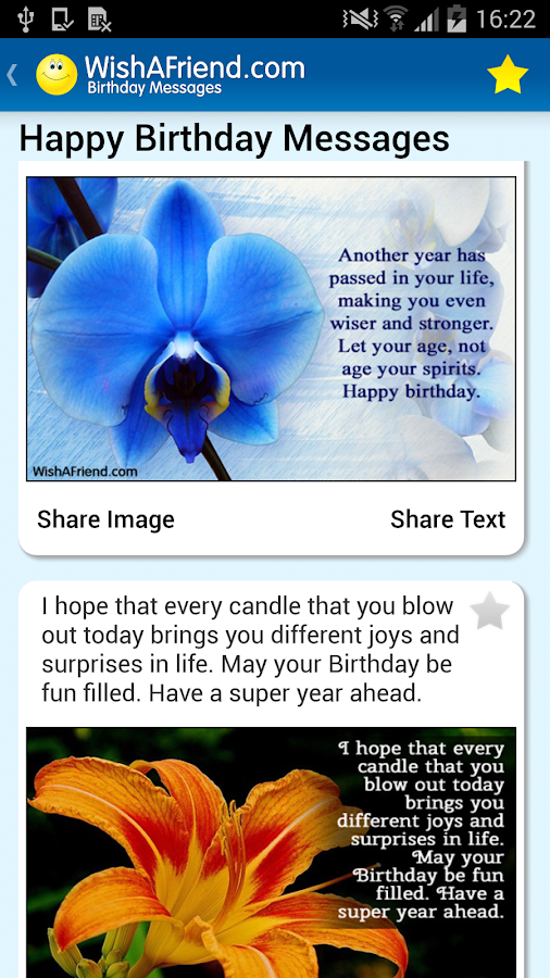 Birthday Cards & Messages- screenshot