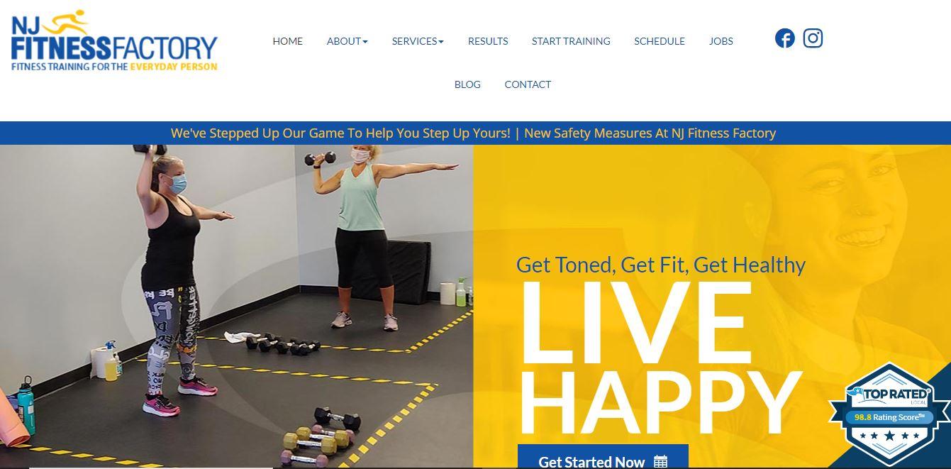 NJ Fitness factory website.