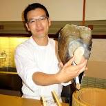 Sukiyabashi Jiro - presenting my next lunch item in Roppongi, Tokyo, Japan