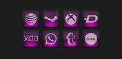 Dera Pink - Icon Pack app for Android screenshot