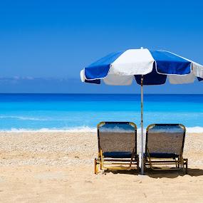 Beach by Felea Adina - Landscapes Beaches ( blue, beautiful, ionian, sea, beach )