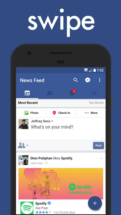 Screenshot 1 Swipe for Facebook Pro 7.3.1 APK PAID